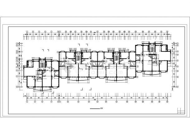 惠州市百慧花园小区6300平米7+1层框架结构住宅楼建筑设计CAD图纸-图二
