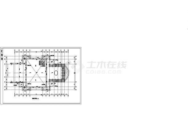 深圳市某现代小区2500平米3层框架结构社区中心建筑设计CAD图纸-图一