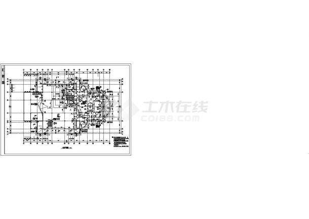 深圳市某现代小区2500平米3层框架结构社区中心建筑设计CAD图纸-图二