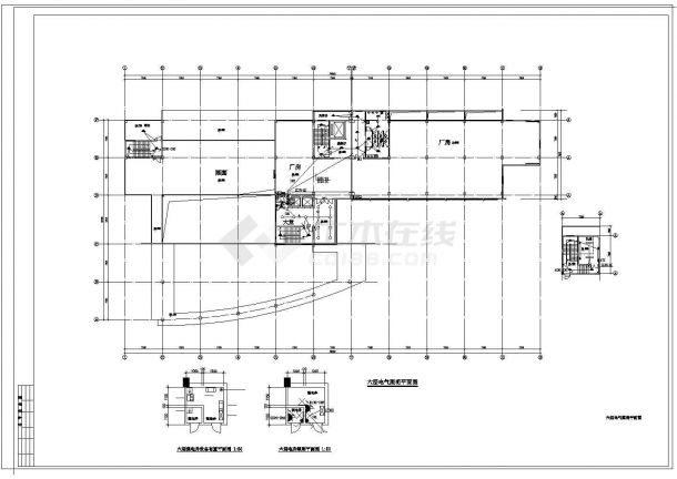 某6层综合厂房电气施工设计图-图二