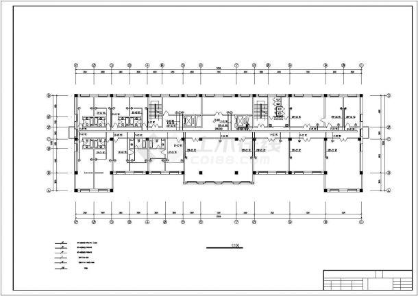 某地二层办公楼电气设计方案施工cad图纸,共一份资料-图一