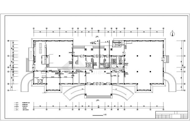 某地二层办公楼电气设计方案施工cad图纸,共一份资料-图二
