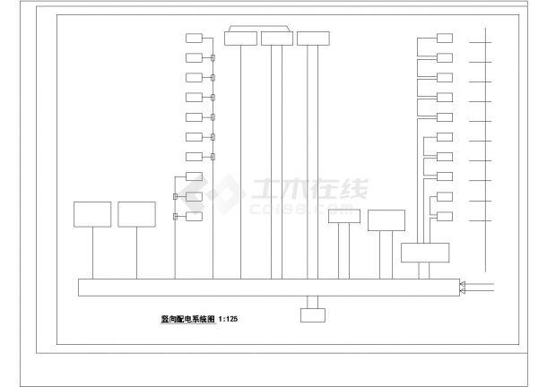 某市办公楼电气设计方案施工平面cad图纸,共一份资料-图一