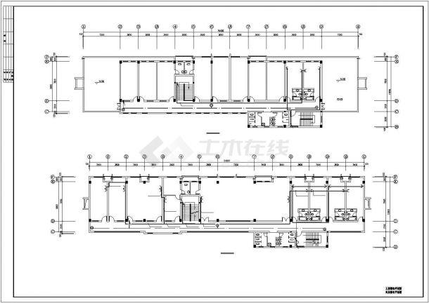 某地办公楼电气设计平面方案cad图纸,共一份资料-图二