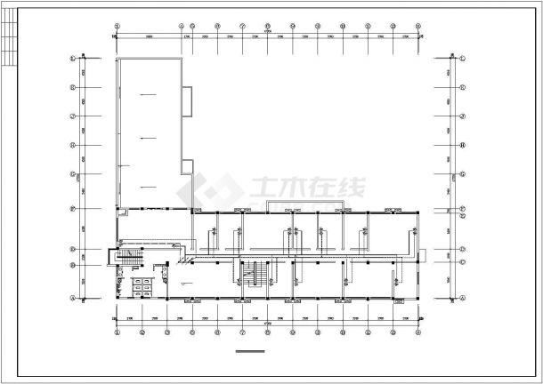 某市办公楼电气设计方案平面cad图纸,共一份资料-图二