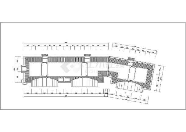 湘潭市芙阳花园小区6层砖混结构住宅楼平立面设计CAD图纸(每层780平)-图一