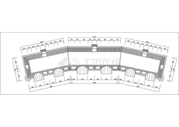 成都市茂林嘉园小区6层砖混结构住宅楼平立面设计CAD图纸(每层950平)-图一