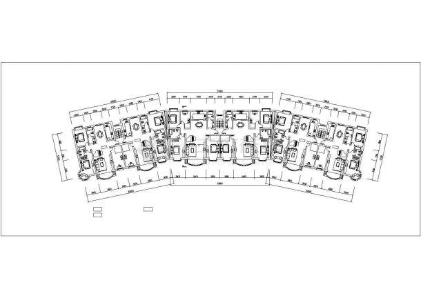 成都市茂林嘉园小区6层砖混结构住宅楼平立面设计CAD图纸(每层950平)-图二