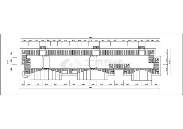 抚州市金泰嘉苑小区6层砖混结构住宅楼平立面设计CAD图纸(每层670平)-图一