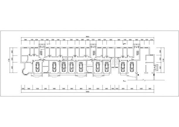 抚州市金泰嘉苑小区6层砖混结构住宅楼平立面设计CAD图纸(每层670平)-图二