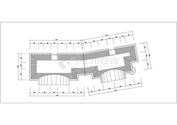 镇江瑞兴嘉苑小区6层砖混结构住宅楼平立面设计CAD图纸(每层460平)-图一