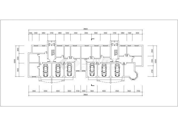 亳州市利联花园小区6层砖混结构住宅楼平立面设计CAD图纸(每层410平)-图一