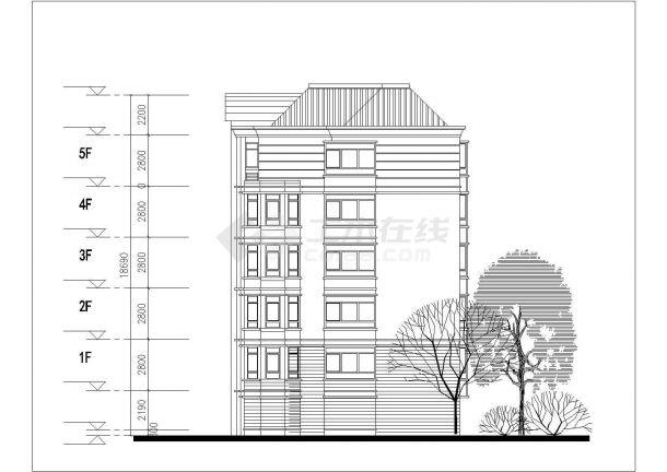 亳州市利联花园小区6层砖混结构住宅楼平立面设计CAD图纸(每层410平)-图二