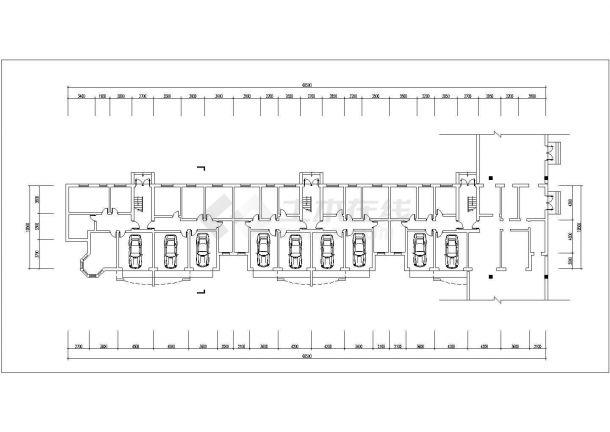 沭阳市春燕花园小区6层砖混结构住宅楼平立面设计CAD图纸(每层640平)-图一