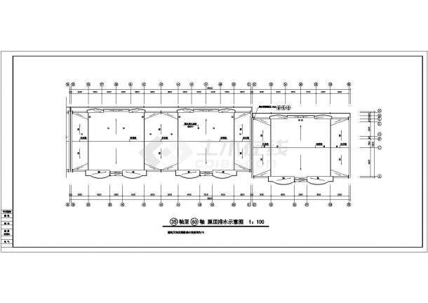 汉中市联保花园小区6层砖混结构临街商住楼建筑设计CAD图纸(1层商用)-图一