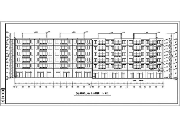 汉中市联保花园小区6层砖混结构临街商住楼建筑设计CAD图纸(1层商用)-图二