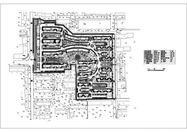 沈阳市福祉花园小区总平面规划设计CAD图纸(占地4.2万平米)-图一