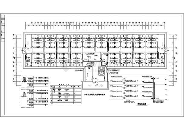 某地区人民医院内科五层住院楼电气工程设计施工图(含系统图、电气设计说明)-图一