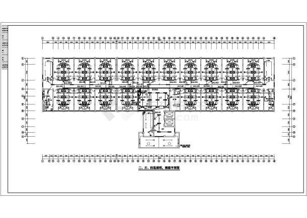 某地区人民医院内科五层住院楼电气工程设计施工图(含系统图、电气设计说明)-图二