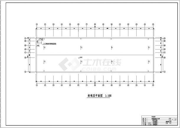 5587.6平米商务中心六层混凝土框架结构毕业设计-图二