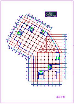 金潮大厦建筑设计cad施工图-图二