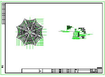 某重檐八角亭建筑cad设计施工图-图二