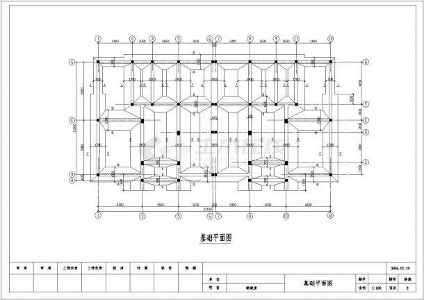 三层联体别墅全套建筑设计方案图-图二