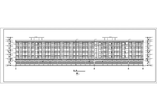 上千人工业区宿舍楼建筑设计方案图-图一