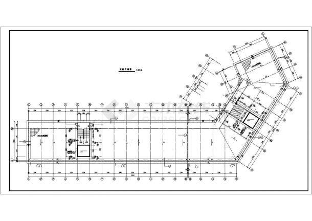 上千人工业区宿舍楼建筑设计方案图-图二
