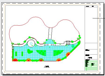 某园林广场桥建筑设计cad方案图-图一