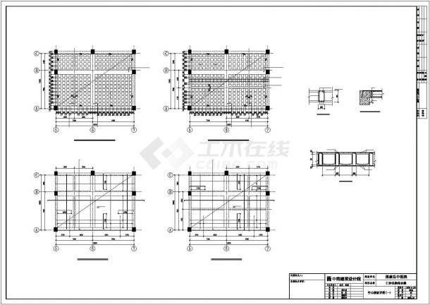 【最新】某中医院全专业设计方案CAD图纸-图一