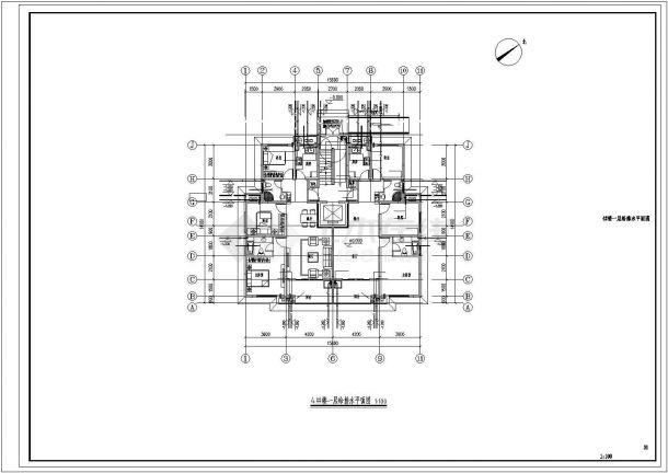 君雅社区第二批安置房建造工程(4# )--给排水设计-图一