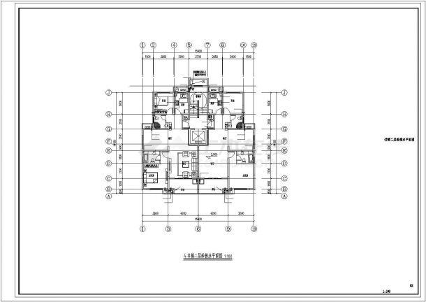 君雅社区第二批安置房建造工程(4# )--给排水设计-图二