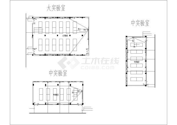 上海市某大学1.3万平米教学楼弱电系统全套设计CAD图纸-图一