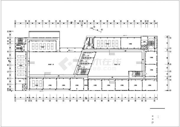 上海市某大学1.3万平米教学楼弱电系统全套设计CAD图纸-图二