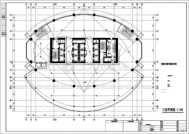 上海嘉定区某49层写字楼全套弱电系统设计CAD图纸-图一