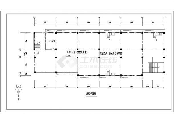 长沙市中学教学楼建筑方案设计图纸-图一