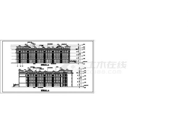 长沙市小学教学楼建筑方案设计图纸-图一