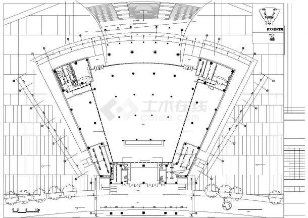 启东市某三层干部学习中心全套强弱电系统设计CAD图纸-图一