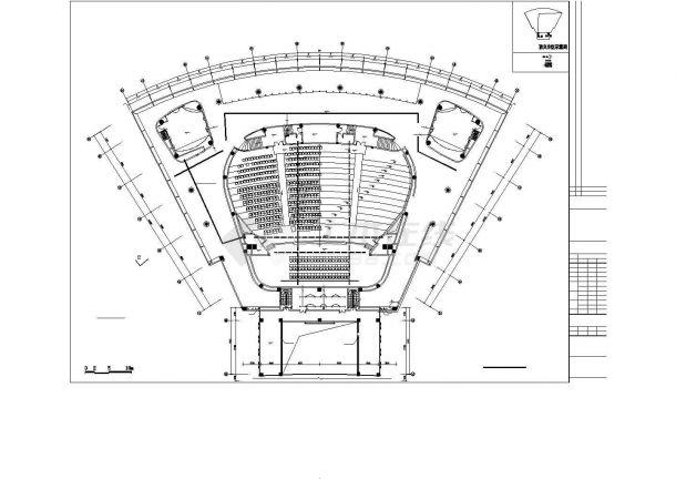 启东市某三层干部学习中心全套强弱电系统设计CAD图纸-图二