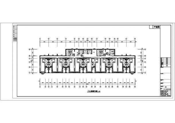 深圳市某居住区2万平米33层高层住宅楼全套采暖系统设计CAD图纸-图二