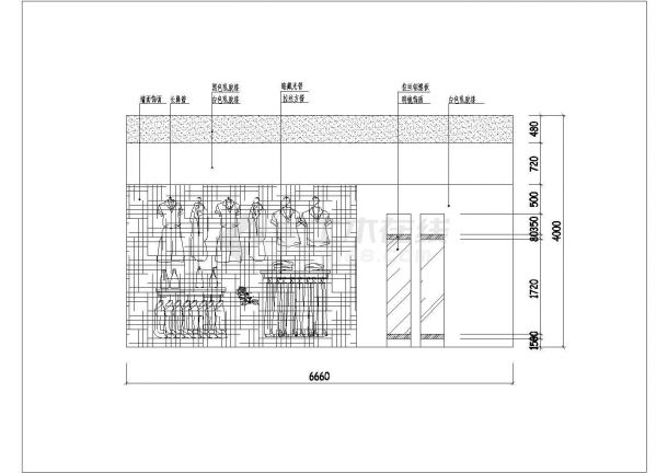 某品牌服装店现代风格室内装饰设计cad施工图-图二