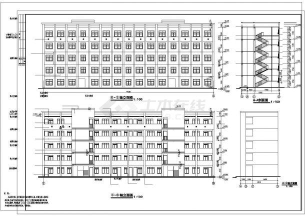 某地方中学建筑设计方案图-图一