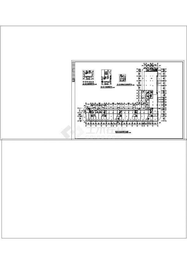 某商住楼的消防自动报警cad图纸设计-图二