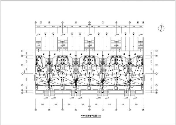 某联排别墅电气施工图全套CAD图纸-图二