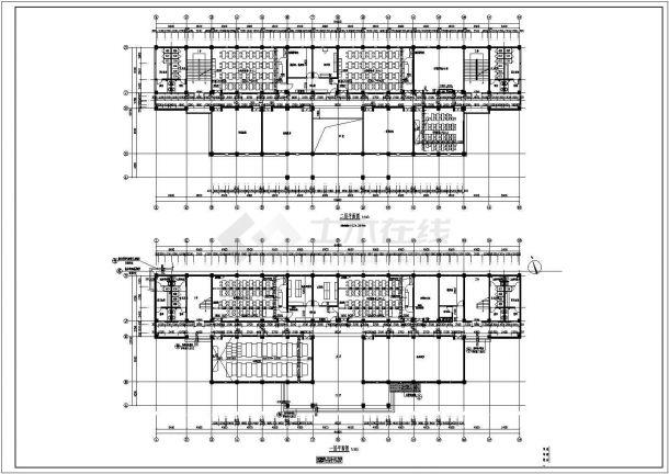 长沙中学五层综合教学楼建筑设计全套施工cad图-图二
