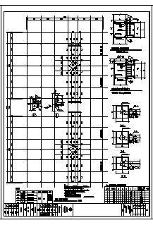 某三层钢结构商贸仓库结构施工cad图_仓库施工-图二