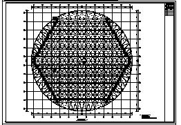 网壳屋面设计_某单层钢结构网壳屋面结构施工cad图纸-图二