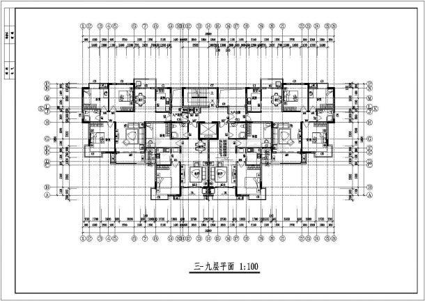 郑州市阳侨花园小区4570平米11+1层剪力墙结构住宅楼建筑设计CAD图纸-图一