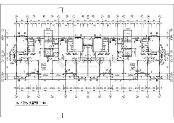 西安市城南名邸小区1.2万平米18层框架结构住宅楼建筑设计CAD图纸-图二